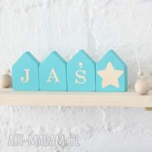 klocki domki - duże, drewno, literki, klocki, domki, unikalne prezenty