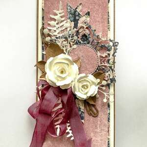 elegancka kartka kobieca, urodziny, kobieta, scrapbooking kartka, dla kobiety