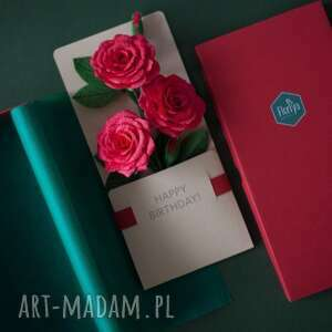 scrapbooking kartki karteczki 3d na prezent urodzinowy, prezent, urodziny