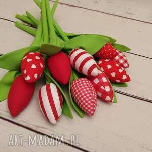 Tulipany - bukiet bawełnianych tulipanów 10 szt dekoracje k and