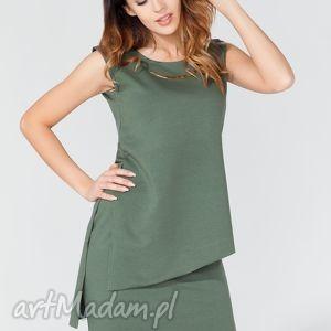 handmade bluzki tunika t116 kolor zielony - tessita