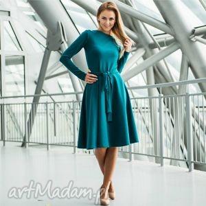 handmade sukienki wheel pensoft | sukienka z dzianiny bawełnianej