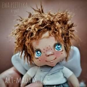 e piet aniołek wróbelek - zawieszka figurka tekstylna ręcznie szyta