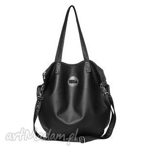 na ramię torba worek waterproof all black, worek, podróż, zakupy torebki