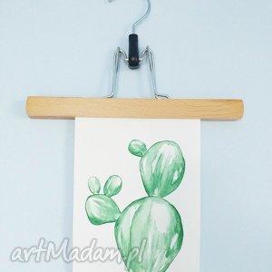 kartka malowana akwarelą kaktus - ,kaktus,plants,sukulenty,roślinki,akwarela,plakat,