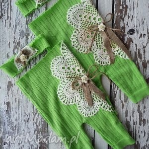 rampers verde, ubranka, dziecko, sesja, noworodek, rampers