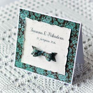 kartka personalizowana z kokardą - kokarda, kartka, personalizowana, gratulacje