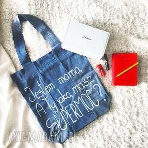 torba na dzień matki super prezent, torba, dzień-matki, mama, dżinsowa, wytrzymała
