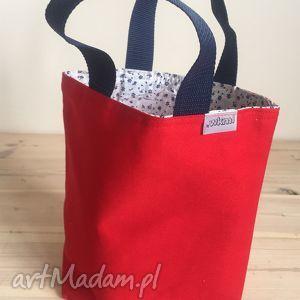 czerwony granatowa łączka, lunch, śniadanie, box, pudełka, lunchbox, prezent