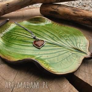 ceramiczny talerzyk, liść c273, palo santo, ceramiczny, podstawka