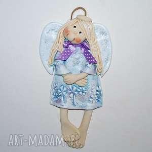 porozglądam się - aniołek z masy solnej - anioły, dekoracja, prezent