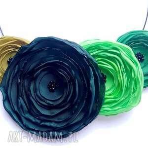 Prezent Kwiatowa kolia - naszyjnik z tkaniny, kwiaty, kolia, naszyjnik, biżuteria