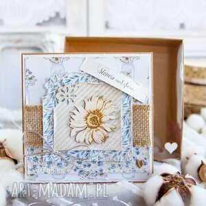 przepiękna kartka warstwowa personalizowane wnętrze pudełko z szybką urodziny
