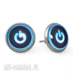 power button - kolczyki sztyfty - wkręty, zasilania prezent
