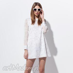 felicja tunika 36 biała, moda, wiosna, lato, wakacje, tunika, kwiaty tuniki