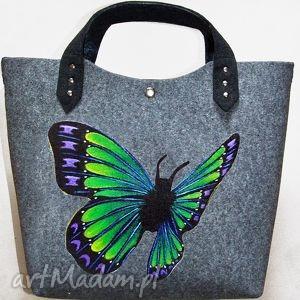 pomysły na upominki świąteczne Filcowa torba motyl 3, filc, torba, motyl, święta