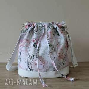 handmade plecak worek torba - różany ogród