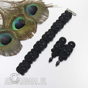 komplet wieczorowy nilino black soutache, sutasz, wieczorowy, ekskluzywny