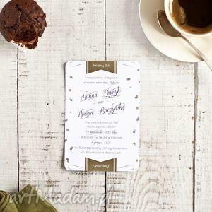 Zaproszenie ślubne CONFETTI 115x170mm B6, zaproszenie, ślub, confetti, eleganckie