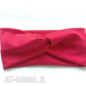 handmade opaski opaska damska podwójna czerwona