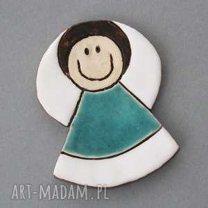 kopalnia ciepla aniołek-magnes ceramiczny, minimalizm, chrzest, lomunia, stróż