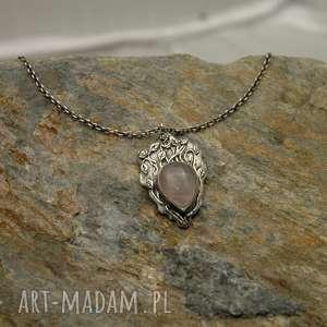 naszyjniki różany krzew, srebro, róża, różany, art, clay, delikatny, święta