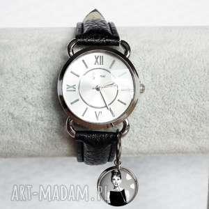 zegarki zegarek z zawieszką na skórzanym pasku, damski, modny, blogerski, skóra
