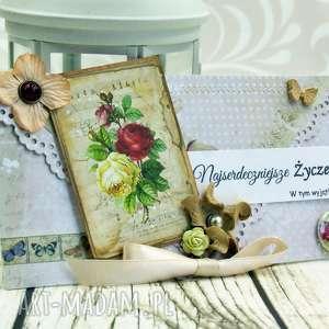 kartka uniwersalna- róże, urodziny, imieniny, uniwersalna, kartka, kopertówka, róże