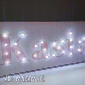 obraz led z imieniem neon pastelowy personalizowany napis dekoracja lampa