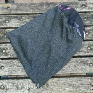 czapka damska kolorowa etno boho uniwersalna na podszewce, box g1-polecam