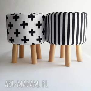 Pufa Czarne X , pufa, stołek, taboret, ryczka, siedzisko
