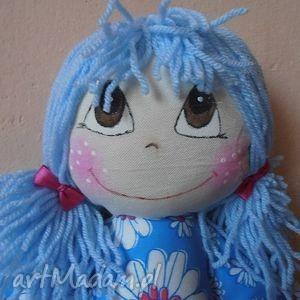 gabrysia z niebieskiej sukience, lalka, przytulanka, maskotka, doll