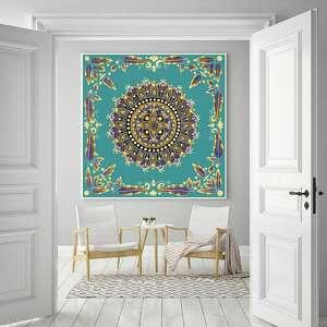 mandala 50x50cm, mandala, mandale, plakat, obraz, ilustracje