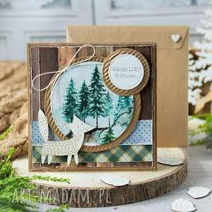 Kartka z naturą w tle, twoją treścią kartki mrufru urodzinowa