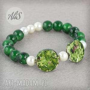 Perła z zielenią - Hand-Made