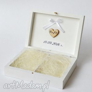 Pudełko na obrączki ślubne, pudełko-na-obrączki, klasyczne, naturalne, vintage, ślub,