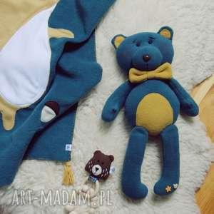 ręcznie zrobione zabawki polarowy miś eustachy