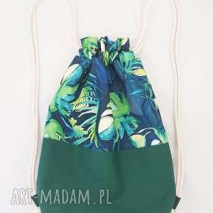 plecak dżungla - ,plecak,liście,rośliny,dżungla,wodoodporny,worek,