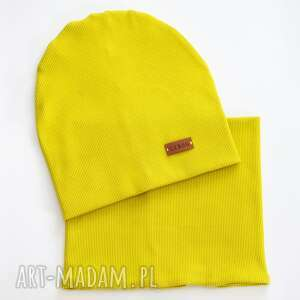 handmade dla dziecka czapka i komin limonka libou