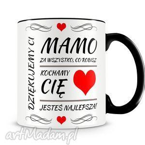 Prezent Dziękujemy Ci Mamo! - kubek z nadrukiem, kubek, prezent, dzień, mamy, matki