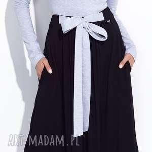 ręcznie robione spódnice czarna spódnica do kostek z kokardą xs, xl