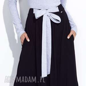 hand-made spódnice czarna spódnica do kostek z kokardą xs, xl