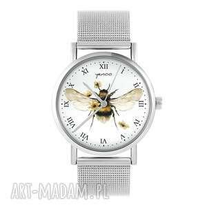 zegarek, bransoleta - bee natural metalowy, bransoleta, metalowy