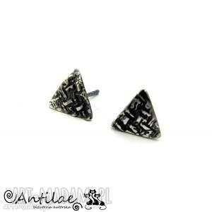 Triangles - Art Clay Siler, srebro, trójkąty, kolczyki, sztyfty, artclay