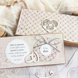 scrapbooking kartki kartka ślubna w pudełeczku pełnym personalizowana treść