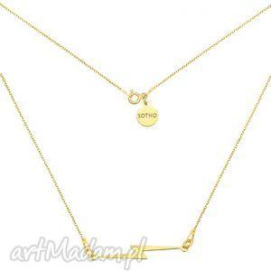 złoty naszyjnik z piorunem - minimalistyczny, blogerski, kobiecy, modny