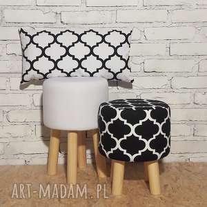 Poduszka Koniczyna Maroco Biało - Czarna, poduszka, pillow