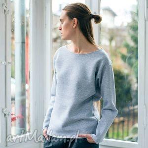 bluzy oval grey oversize bluza, oversize, szary, bawełna, moda, casual