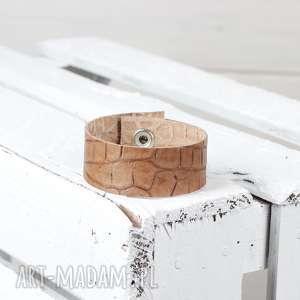 hand-made skórzana bransoleta