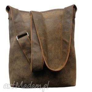 hand-made torba listonoszka męska skóra naturalna